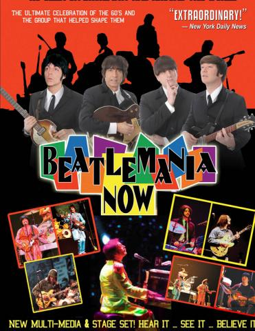 Book Beatlemania Now for your Performing Arts Center, Special Event, or Country